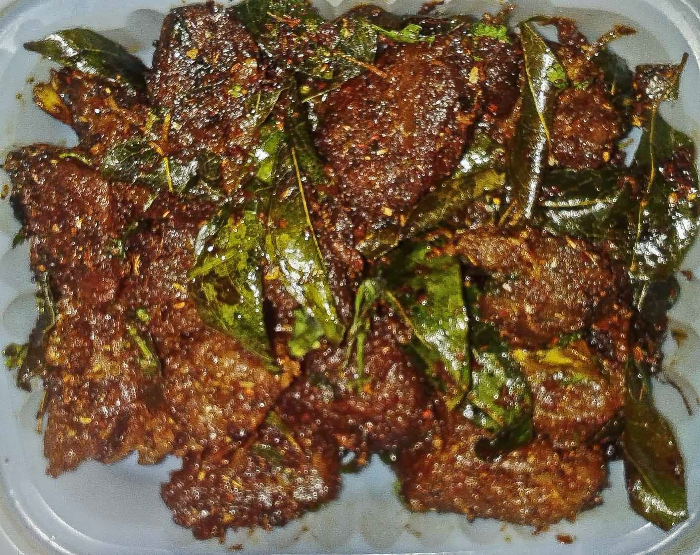 Hyderabad Andhra Srikanya Boneless Mutton Fry