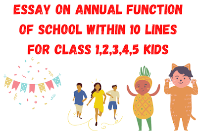 Essay on Annual Function of School