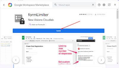 Instal formLimiter