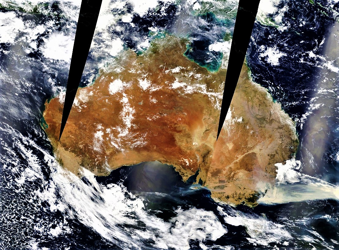 Here's another picture of Australia taken from the Terra satellite.