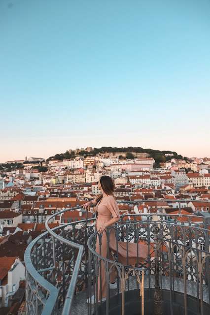 Alicia Mara and the view from the Santa Justa Lift | Tips and Tricks