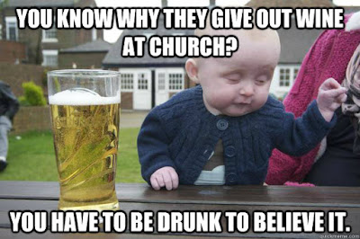 funny wine at church meme picture
