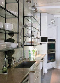 suspended open shelving- Wild Rose Interiors