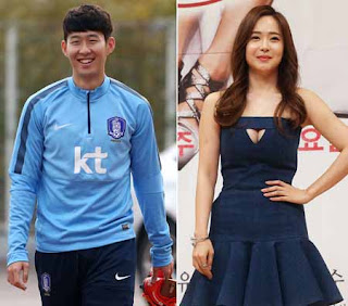 Yoo So-young and son heung min