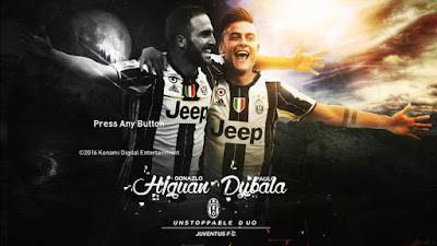 PES 2017 Higuain and Dybala (Juventus) Startscreen by Leo05