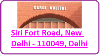 Gargi College, Siri Fort Road, New Delhi - 110049, Delhi