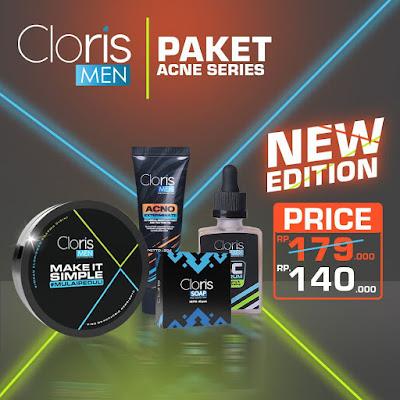 Paket Clorismen Acno Series Untuk wajah bersih bebas jerawat