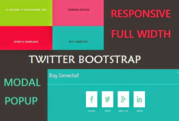 Responsive Full Width Modal Popup Layout Using Twitter