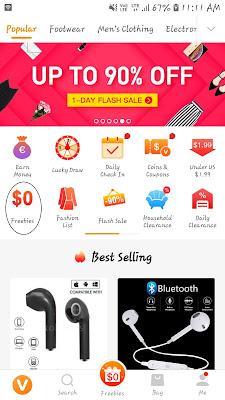 Get Free Products via Vova App Freebies Loot