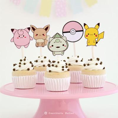 toppers festa pokemon decoracao
