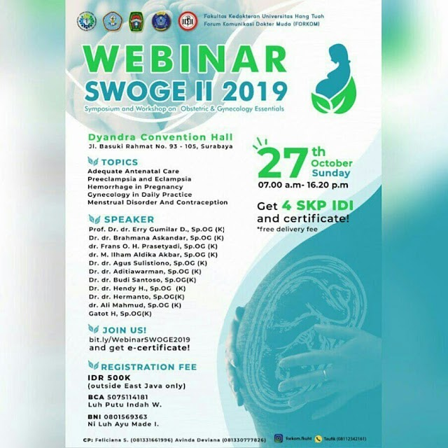 Symposium and Workshop on Obstetric & Gynecology Essentials (SWOGE) II 2019 y