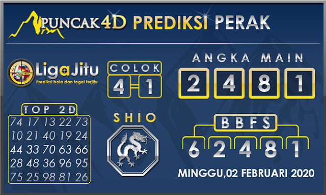 PREDIKSI TOGEL PERAK PUNCAK4D 02 FEBRUARI 2020