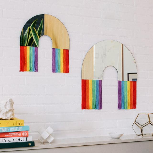 rainbow mirrors