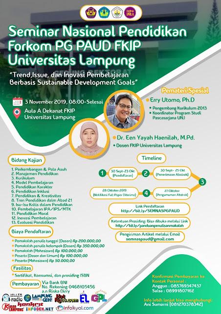 Yuk Ikutan Seminar Nasional di Universitas Lampung, Ini Yang Akan Dibahas