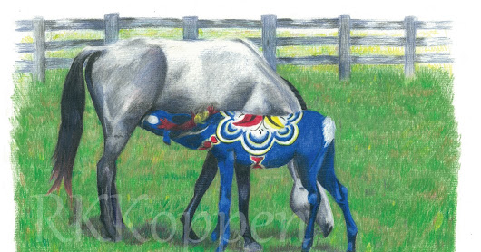 Dala Horse and the Gray Mare