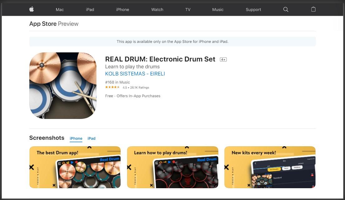 aplikasi real drum di App Store