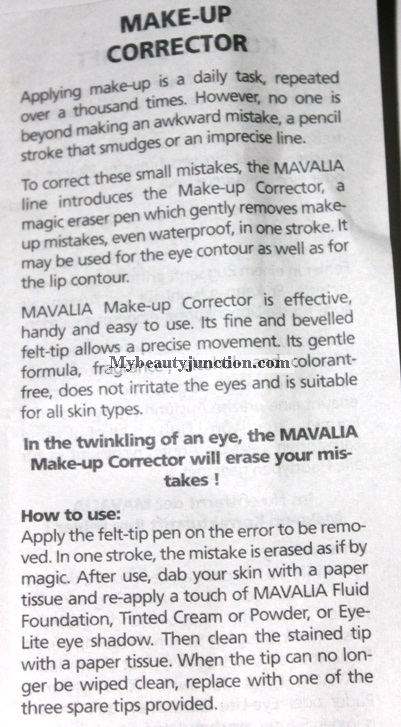 Mavalia Makeup Corrector from Mavala review, usage, photos