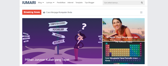 Modifikasi Breaking News Widget Arlina Design