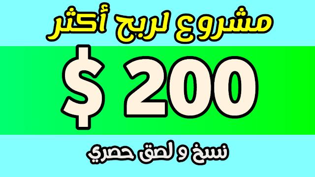 الربح من الانترنت/ اكثر من 200 دولار من نسخ و لصق مشروع حصري لم يشرح  من قبل