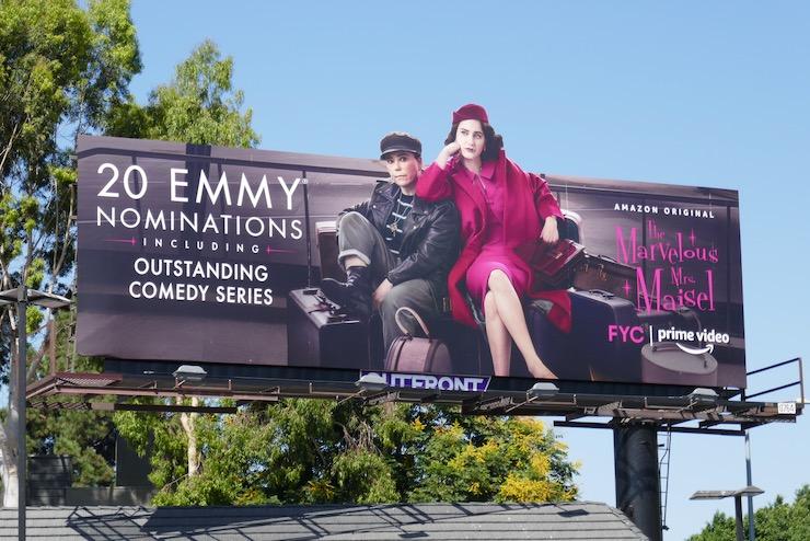 Mrs Maisel 2020 Emmy nominee cutout billboard