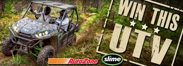 To celebrate their 30th birthday, Slime has joined with AutoZone to offer you a chance to win the ultimate Kawasaki UTV gift pack!