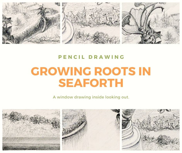 Growing Roots in Seaforth drawing stages by Minaz Jantz