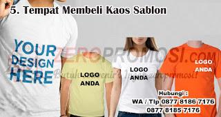 Tempat Membeli Kaos Sablon harus diperhatikan saat memilih kaos sablon