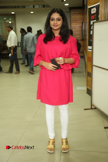 Actress Arundathi Nair Stills in Red Chididar at Bethaludu Success Meet  0119.JPG