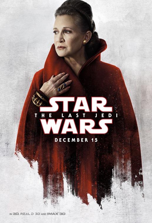 Star Wars Last Jedi Leia poster