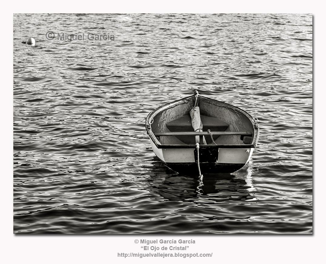 O Porto de Santa Cruz. Al pasar la barca