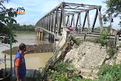 Sayap Jembatan Penghubung Bojonegoro-Tuban Longsor