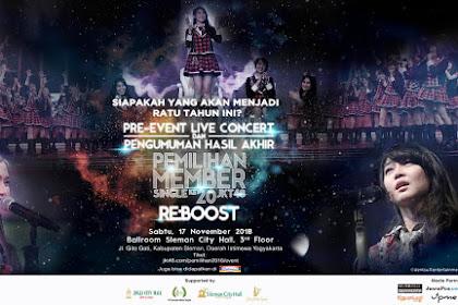 Hasil Akhir JKT48 20th Single Senbatsu Sousenkyo 'RE:BOOST' (17 November 2018)