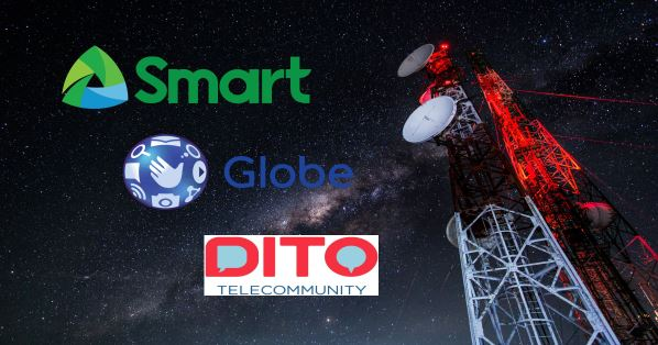 Smart, Globe, Sun or Dito mobile number prefixes Philippines