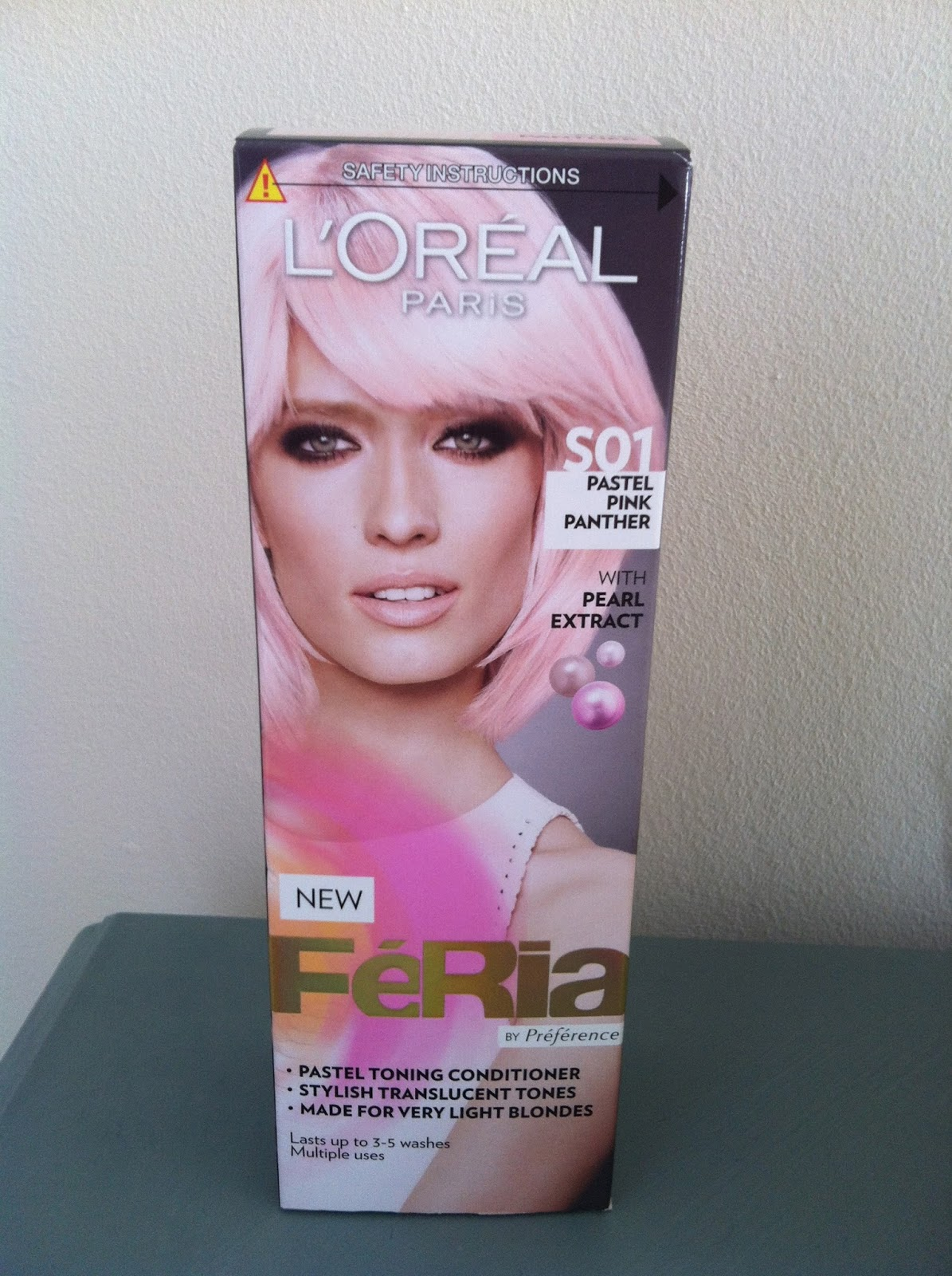 AmyInDevon: Pink hair - Review of L'Oreal Feria Pastel ...