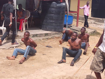 End Of The Road For Young Men Who Snatched A Guy's Wallet In Port-Harcourt. Photos