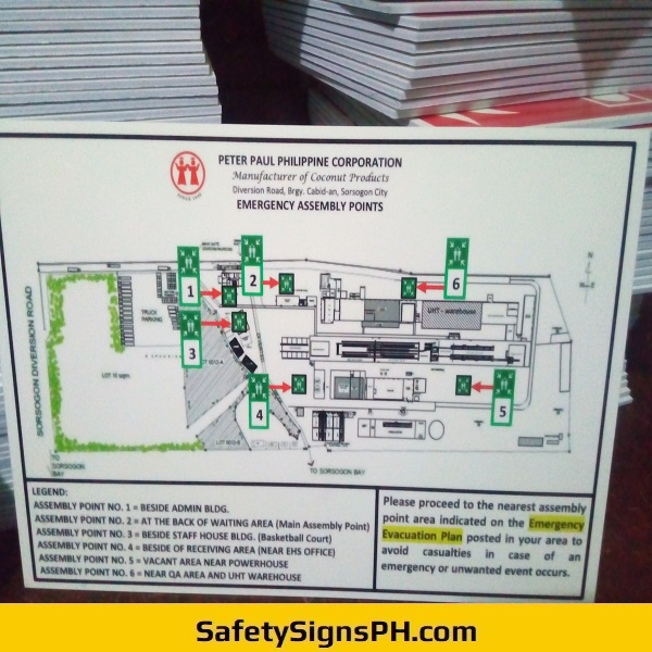 Emergency Assembly Points - Peter Paul Philippines Corporation