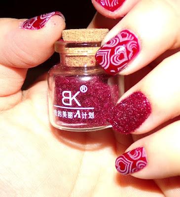 #manicura para san valentín