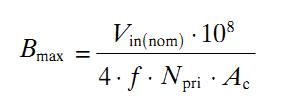 How to Calculate SMPS Transformer - Formula Bmax