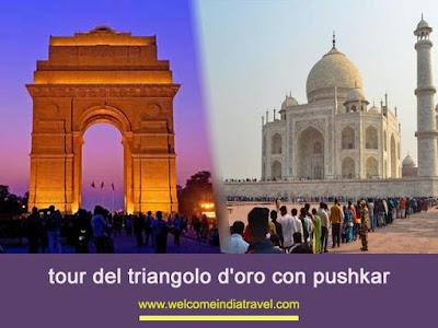 pushkar con pacchetto tour triangolo d'oro