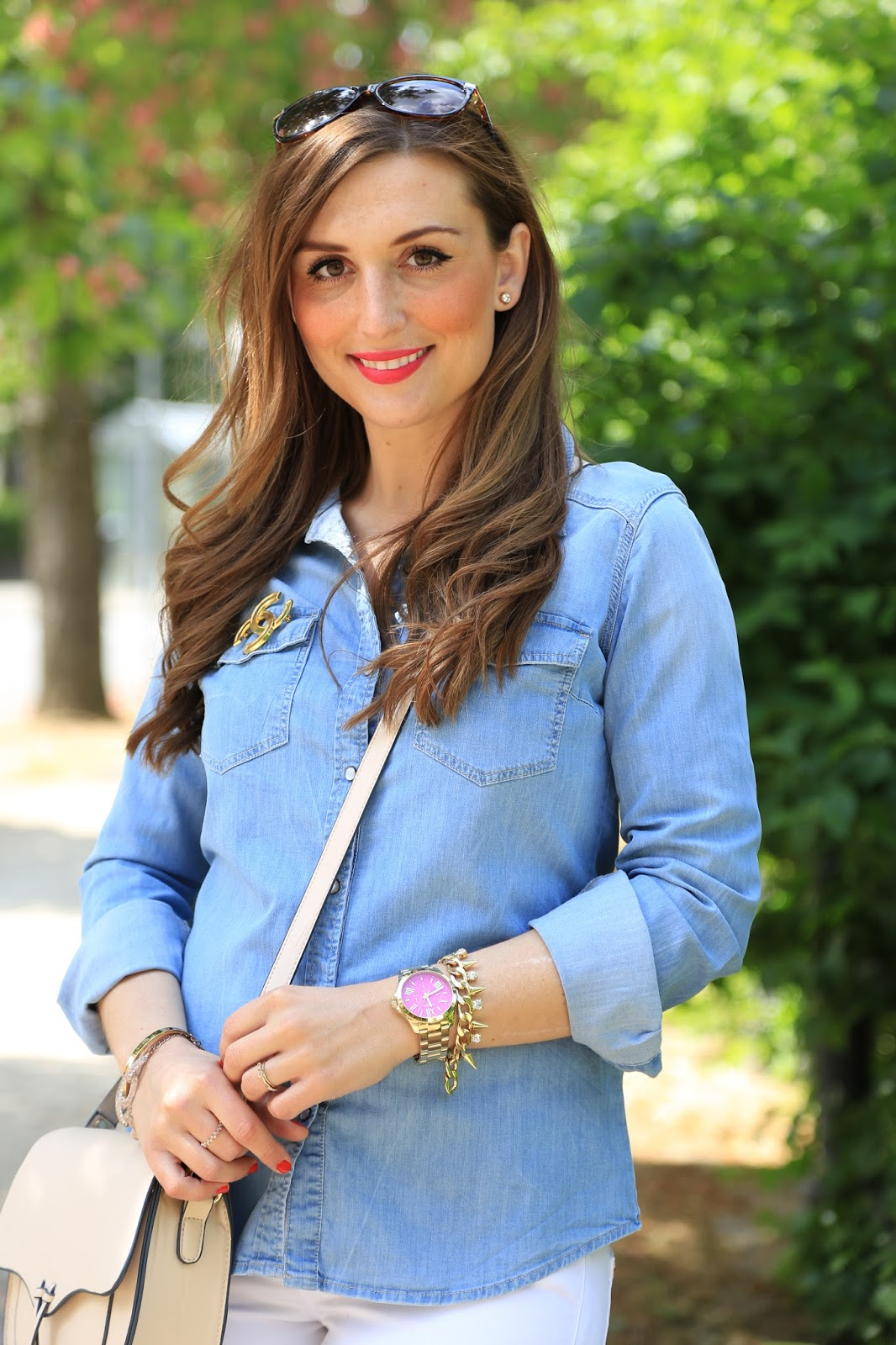 Jeanshemd kombinieren , wie kombiniere ich ein Jeanshemd, Jeanshemd Blogger , Fashionstylebyjohanna