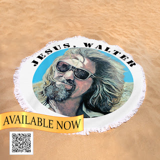 Jesus Walter Luxury Round Beach Towel by Tom Roderick Art