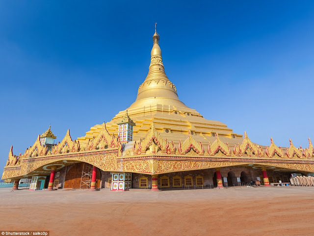 The World Vipassana Pagoda in Mumbai in India is considered an architectural wonder of the 21st century. The construction of the pagoda took 11 years and was completed in 2008.