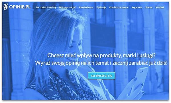 Opis panelu ankietowego Opinie.pl.
