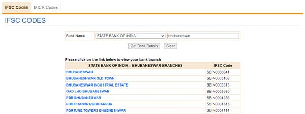 How to find the IFSC code of any bank?