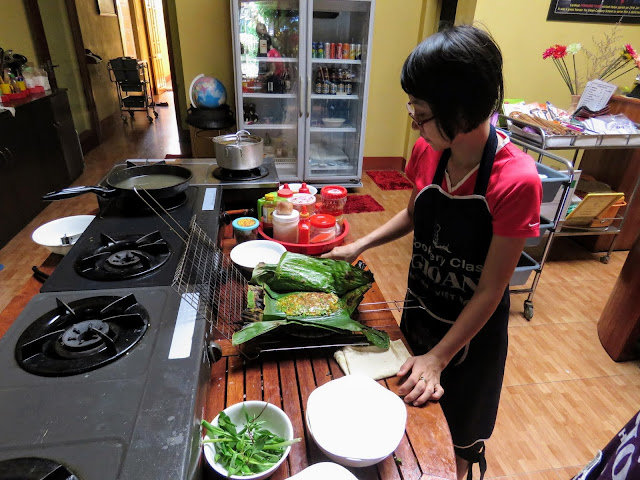 Vina, our host from Gioan Cooking School in Hoi An Vietnam