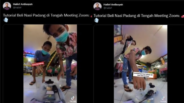 Viral Pria Beli Nasi Padang Pakai Remote Control, Publik Malah Salfok ke Hal Ini