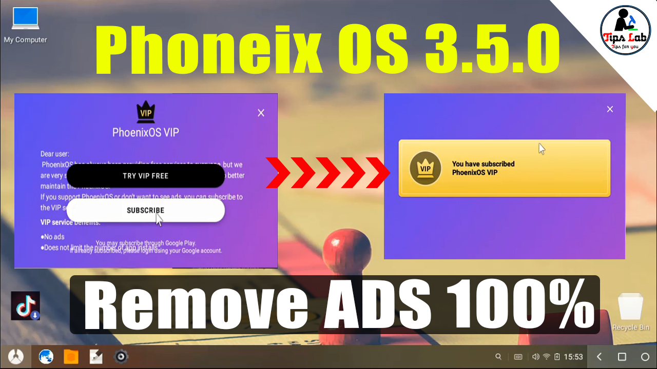 How To Remove Phoenix VIP Ads On Phoenix OS v3 0 8 Official Free