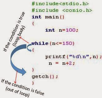 working of while loop in C