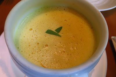 Atout, clam saffron soup with scallop dumplings