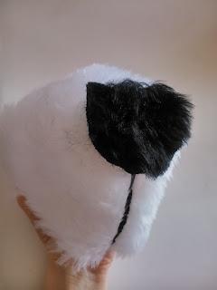 DIY costura disfraz oso panda calentito morro 2